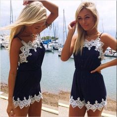 b1257248d950 Womens Clubwear Cocktail V Neck Playsuit Bodycon Party Jumpsuit Romper  Trousers on Luulla Lace Playsuit