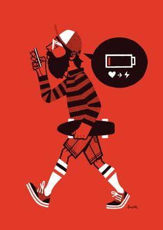 Low Battery // Jorge Lawerta illustration