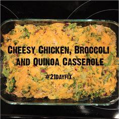 Cheesy Chicken Broccoli and Quinoa Casserole 21 Day Fix