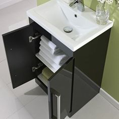 black vanity units for bathroom. Milano 500mm Floor Standing 2 Door Vanity Unit Gloss Black 800mm Wall Hung Single Drawer