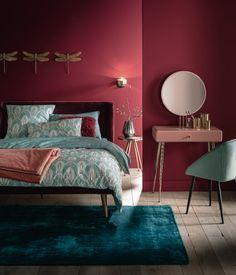 Modern Art Deco Home Rugs Trendy Ideas Bedroom Red, Dream Decor, Art Deco Interior, Bedroom Interior, Simple Bedroom Design, Art Deco Home, Home Interior Design, Interior Design, Interior Deco