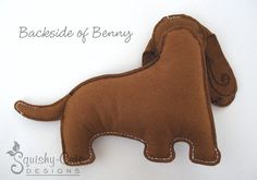 Perro patrón de costura PDF Basset Hound por SquishyCuteDesigns