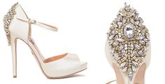 Badgley Mischka d'orsay pumps bruid