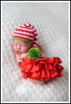 Baby Hat Baby Christmas Hat Christmas por LittleLovesDesigns