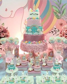 "Gefällt 4,800 Mal, 30 Kommentare - Festejando em Casa by Monalisa (@festejandoemcasaoficial) auf Instagram: ""Linda decor de #unicornio by @amaisfestas_ #festejandoemcasa #unicorniofestejandoemcasa"""