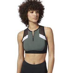 77b4ba66bf Reebok Women s Color Block Crop Top in Chalk Green Size 2XS - Training  Apparel