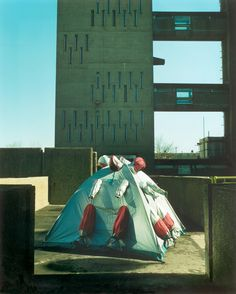 Refuge Wear Intervention, London East End 1998 by Lucy + Jorge Orta George Zimmerman, Rotterdam, Homeless Housing, East End London, Fire Pit Backyard, Expositions, Tiny House Design, Installation Art, Art Installations