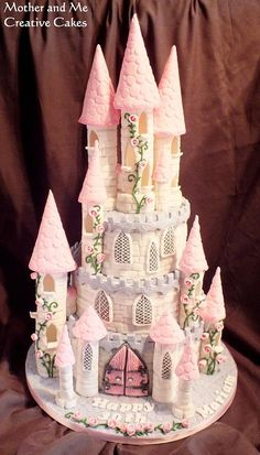 Fairytale Castle Cake - Cake by Mother and Me Creative Cakes Castle Birthday Cakes, Princess Castle Cakes, Princess Party, Castle Cupcakes, Princess Theme Cake, Princess Tower, Princess Birthday, Bolo Floral, Bolo Cake