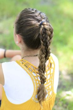 The Run Braid Combo Softball Hair Workout Hairstyles Volleyball - ponytail hairstyles workout wavy ponytail hairstyles Athletic Hairstyles, Volleyball Hairstyles, Workout Hairstyles, Cute Girls Hairstyles, Ponytail Hairstyles, Trendy Hairstyles, Hairstyles Videos, Beautiful Hairstyles, Track Hairstyles