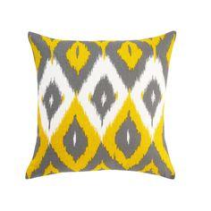 DwellStudio Diamond Ikat Square Pillow in Citrine
