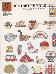 Graphworks Mini Motif Designs Folk Art leaflet 24 Counted Cross Stitch