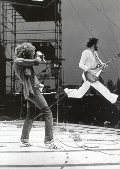 """strummerpunk: """"classic shot of Roger Daltrey and Pete Townshend from The Who """""""