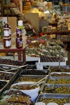 Market in Hania, Crete, Greece
