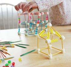 Marshmallow/dough and Toothpick Sculptures