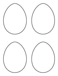Printable small egg pattern Use the pattern for crafts creating