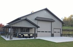 Forest City, IA - Ag Storage/Shop Building - Lester Buildings Project: can find Metal buildings and more on our we. Metal Shop Houses, Metal Shop Building, Building A Pole Barn, Steel Building Homes, Pole Barn House Plans, Garage House Plans, Building A House, Morton Building Homes, Shop House Plans