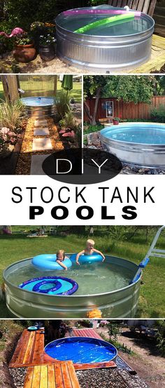 DIY a Stock Tank Pool! How to make a plunge pool from a stock tank! DIY a Stock Tank Pool! How to make a plunge pool from a stock tank! Outdoor Fun, Outdoor Spaces, Outdoor Living, Outdoor Decor, Pool Diy, Pool Backyard, Backyard Landscaping, Stock Tank Pool, Large Stock Tank