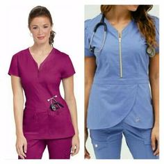 uniformes medicos - Buscar con Google Office Outfits, Casual Outfits, Scrubs Uniform, Lab Coats, Medical Uniforms, Scrub Life, Rompers, Womens Fashion, Mens Tops
