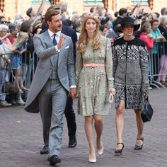 Alexandra's 30-year-old sister Charlotte Casiraghi also looked elegant at the affair, donning a black and white ensemble, and sun-protecting straw hat. She arrived at the event with her brother Pierre Casiraghi, who appeared dapper in a crisp suit, and his stylish wife Beatrice Borromeo, who wore a beige turban.