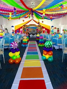 How to Make Awesome Christmas Outdoor Decorations – Giant Lollipops Tour of Christmas candyland Candy Theme Birthday Party, Candy Land Theme, Carnival Birthday Parties, Candy Party, First Birthday Parties, Birthday Party Rentals, Colorful Birthday Party, Birthday Balloons, 2nd Birthday