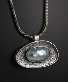 Reversible Sterling Silver Pearl and Patterned door janVdesign, $350.00