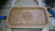 Hockey Theme Cribbage Board - Woodworking creation by Chris Tasa