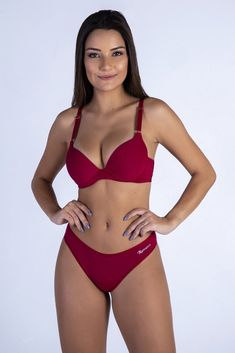 0d48175d89d1f Red Butterfly Back Push-up Bra and Panty