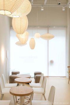 [430] 예쁜카페인테리어 / 젠스타일 포인트 조명 : 네이버 블로그 Cafe Shop Design, Cafe Interior Design, Farm Cafe, Cost Of Production, My Coffee Shop, Amazing Bathrooms, Living Spaces, House, Furniture