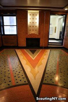 "1150 Grand Concourse: an art deco masterpiece in teh Bronx, known as the ""fish building"" for its mosaic."