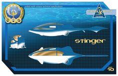 Seaquest DSV Stinger blueprints