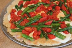 Fresh Asparagus and Tomato Pizza