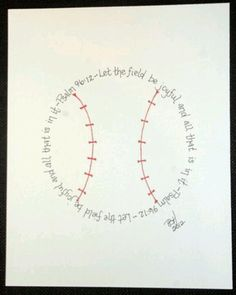 Baseball nursery idea- this is going on the wall for sure!
