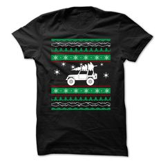 CHRISTMAS JEEP. Funny, Cute, Clever Christmas Quotes, Sayings, T-Shirts, Hoodies, Tees, Clothing, Coffee Mugs, Gifts. #christmas