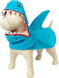 Miles is going to be a shark with an underbite for Halloween this year. He's loving his new costume.