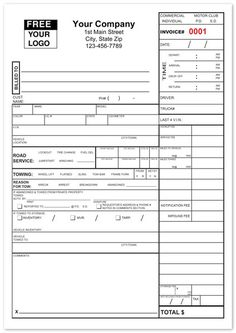 Towing Invoice Forms Towing Invoice Pinterest