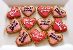 Personalized birthday cookies decorated with fondant and royal icing
