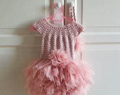 Baby Girl Tutu Dress. Baby Flower Girl Tulle Dress di AylinkaShop