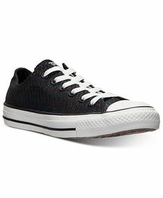 On sale now, 8.5 Converse Women's Chuck Taylor Ox Snake Casual Metallic Sneakers from Finish Line