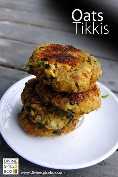 oats tikkis recipe here - http://divinespicebox.com/2014/05/14/oats-tikkis/