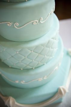 Tiffany blue cake :)