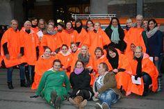 Frivillig staben fra National Fuldkornsdag 2012 foran Københavns Hovedbanegård. #FuldkornErGuldkorn