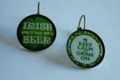 Vintage Irish Bronze Clutch Earrings by SweetieBeads on Etsy, $5.00