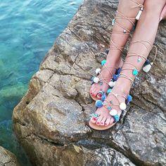 Sandalias gladiador sandalias sandalias griegas Semi por RiRiPoM