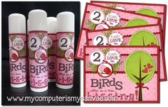 Love Birds Lipbalm Labels - Free Printable