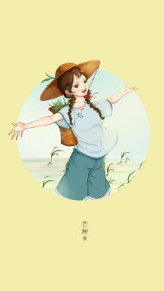 Cute Illustration, Character Illustration, Portrait Cartoon, Cute Cartoon Wallpapers, Cute Anime Character, Anime Style, Anime Art Girl, Chinese Art, Asian Art