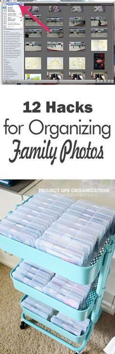 How to Organize Family Photos #scrapbooking #organization #familyphotos