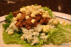 Crockpot Barbacoa Beef. Eep! Too spicy for my taste, but The Gentleman rates it a 4/5 stars