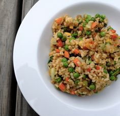 Vegan Fried Rice Whenever I make rice, I always make double or triple what I need - it's no extra work and I always get fried rice later in the week. Cooked rice also freezes well for easy meals. Just steam it to heat it up and go! Fried rice is great with everything - use whatever veggies you have laying around. – More at http://www.GlobeTransformer.org