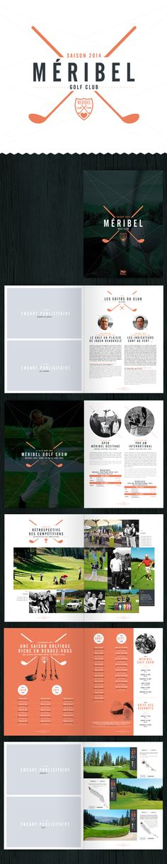 Golf de Méribel - Brochure 2014 by Alexis Dufour, via Behance
