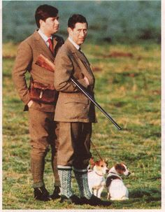 Prince Charles with his Jack Russells Tigger and Pooh